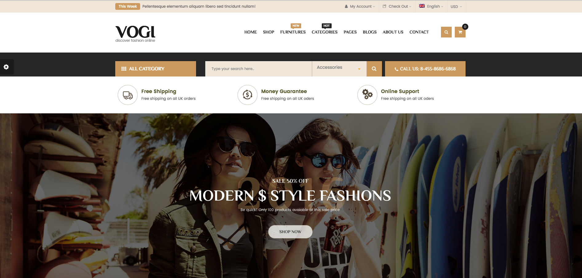 Vogi – Multipurpose WooCommerce WP Theme Review