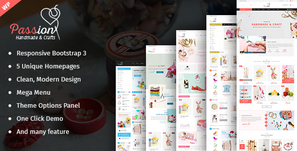 Passion – Handmade & Craft  WordPress Theme
