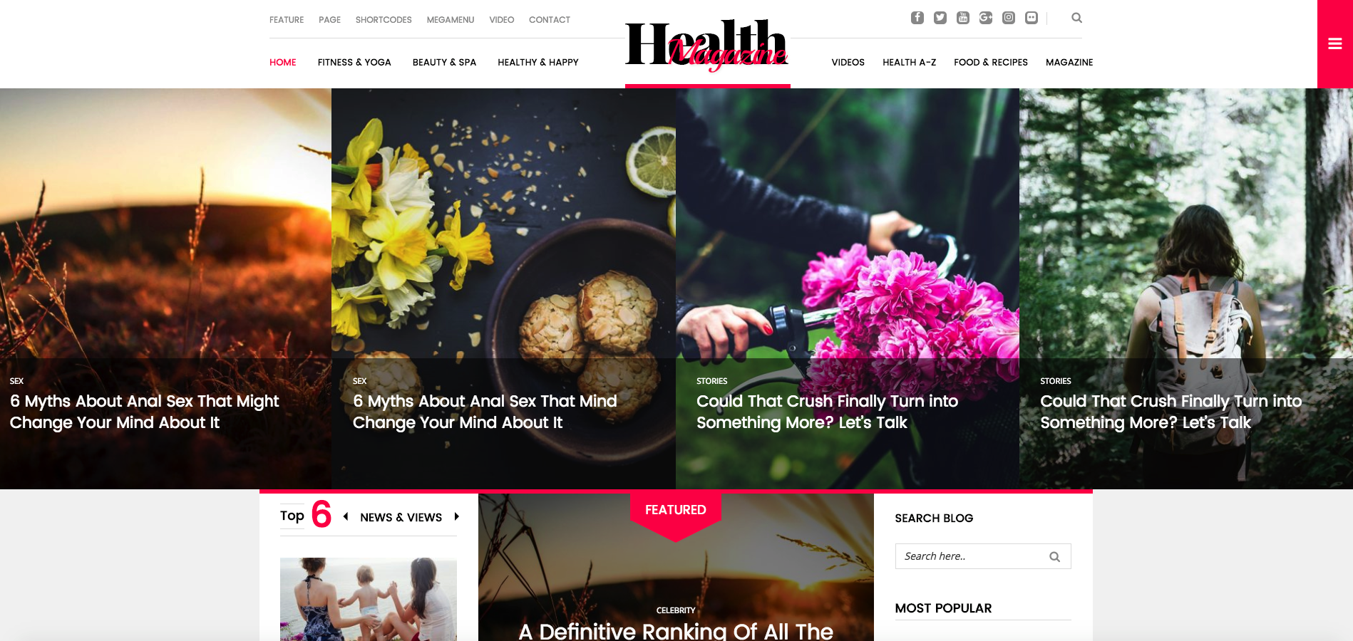 HealthMag – Multipurpose News/Magazine WordPress Theme