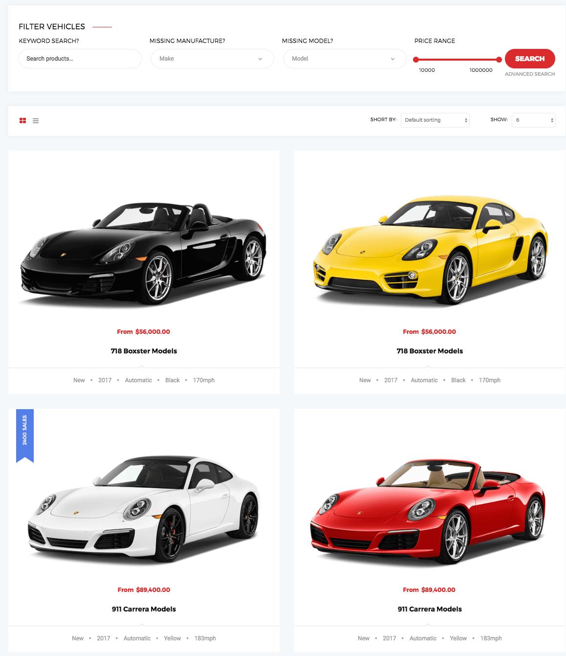 The Best Car Dealer WordPress Theme 2017