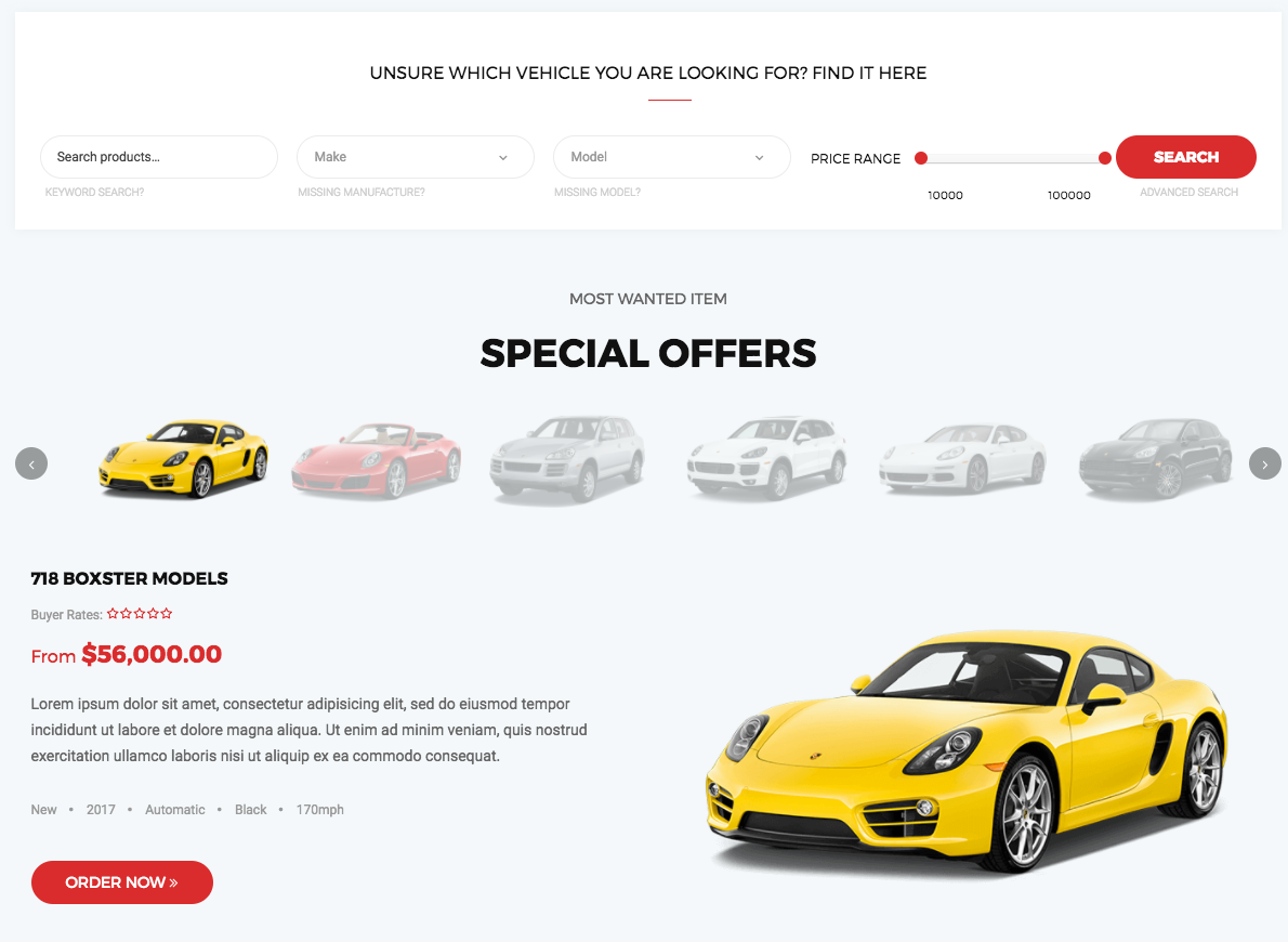 Professional And Responsive Car Dealer WordPress Themes For Automotive Websites 2017