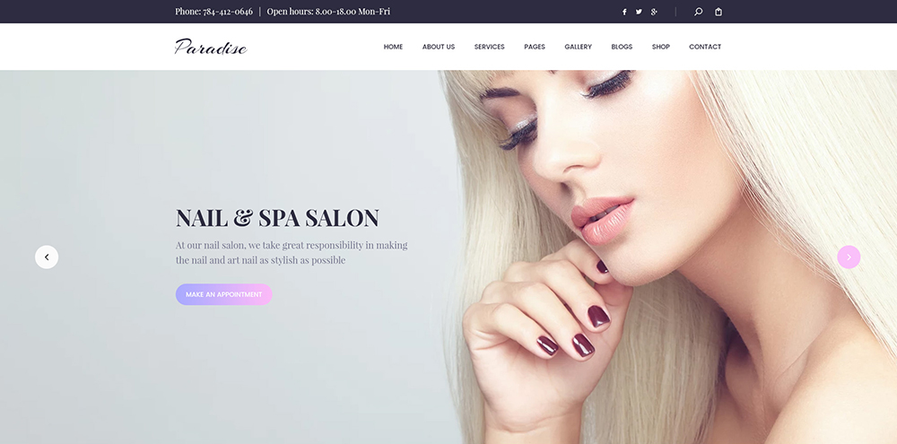 BEAUTY & SPA, HAIRCUT, NAIL, TATTOO WORDPRESS THEME