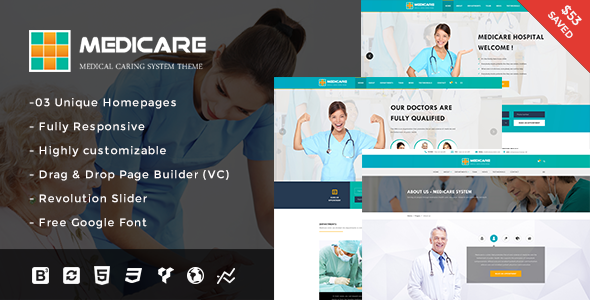 Medicare – Medical and Health Responsive WordPress Theme