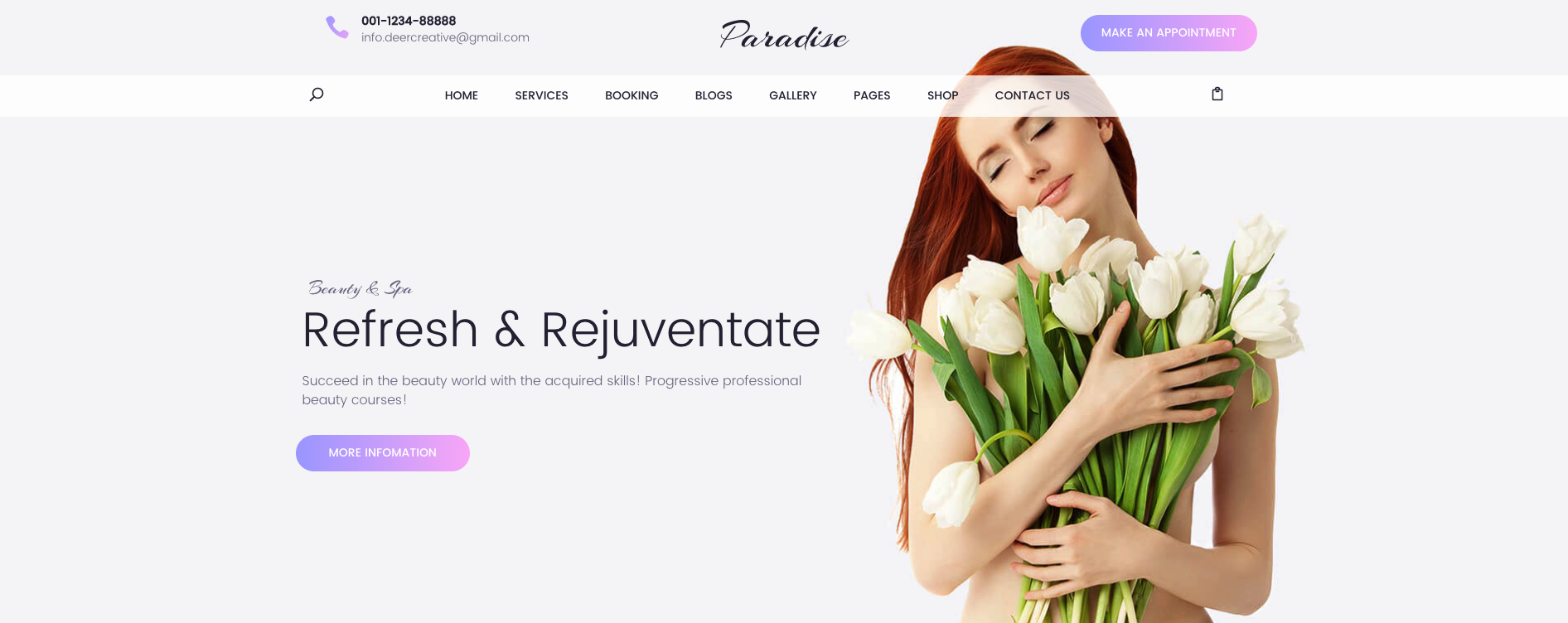 Paradise – Multipurpose Spa & Beauty WordPress Theme
