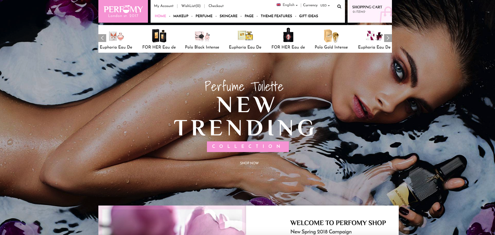 Beautiful Perfume Shop WordPress Theme