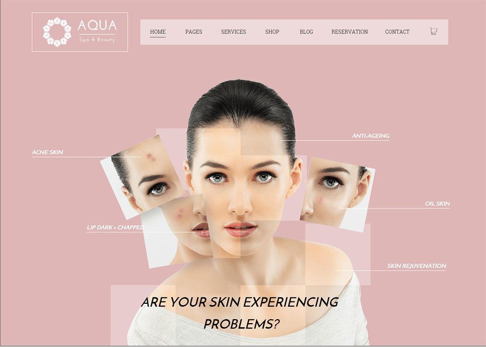 Spa & Beauty Theme Review – Aqua's Newest Looks