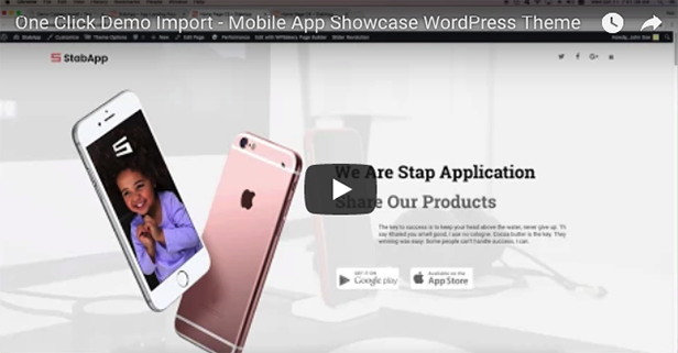 StabApp – Mobile App Showcase WordPress Theme