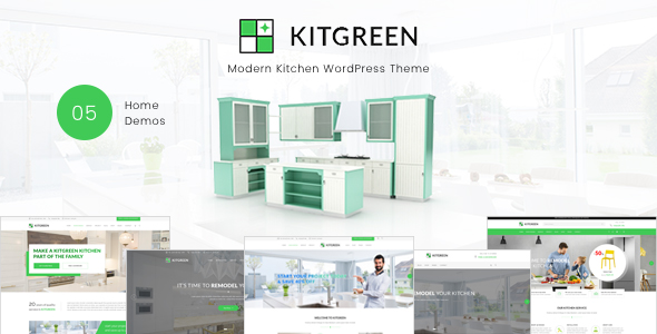 KitGreen – Modern Kitchen WordPress Theme