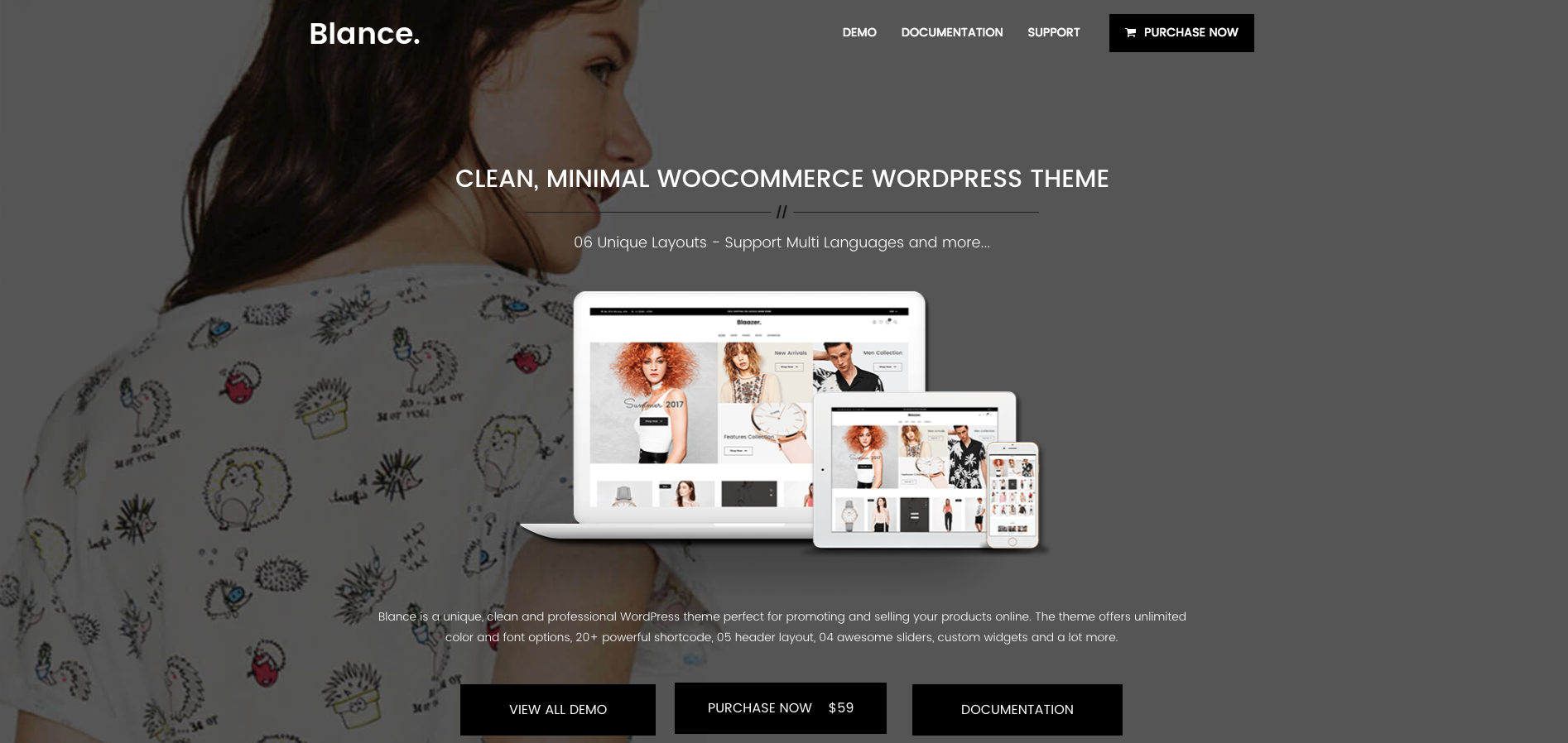 Best Minimalist eCommerce WordPress Theme 2018