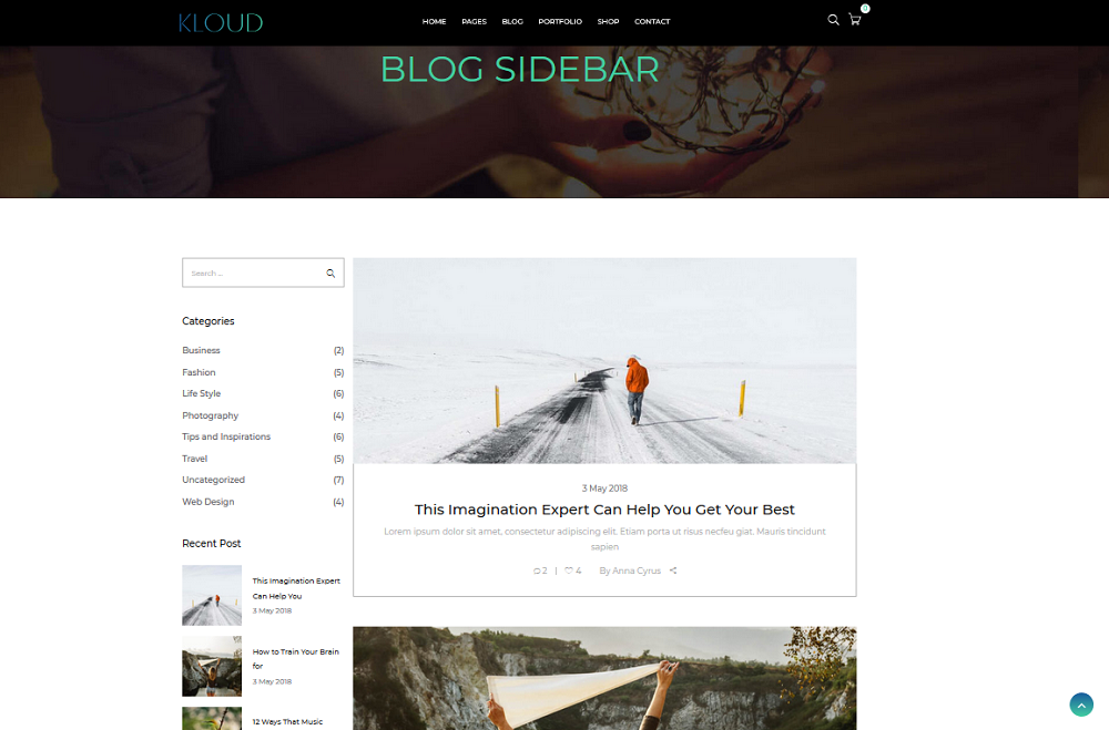 Blog Sidebar Layout