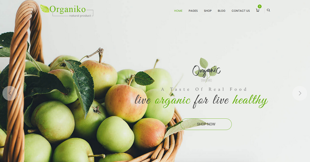 Organiko Farm and Food Business WordPress Theme
