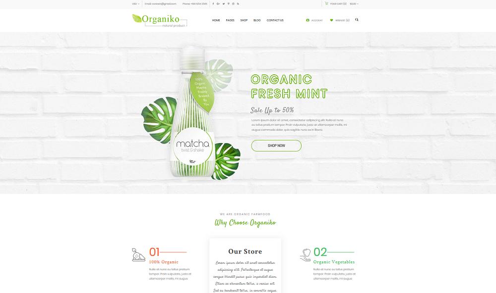Organiko Homepage 2