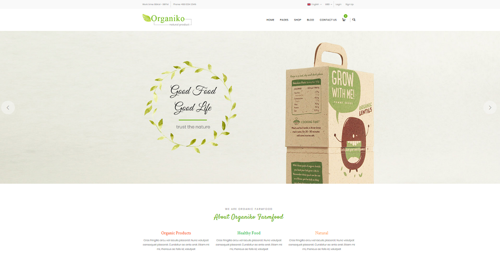 Organiko Homepage 3