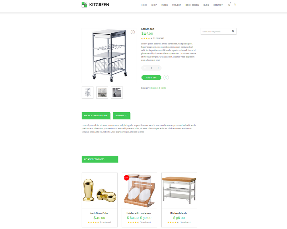 Shop Single Page