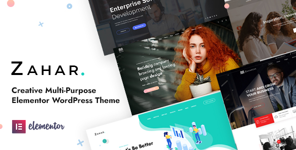 Zahar – Creative Multipurpose Elementor WordPress Theme