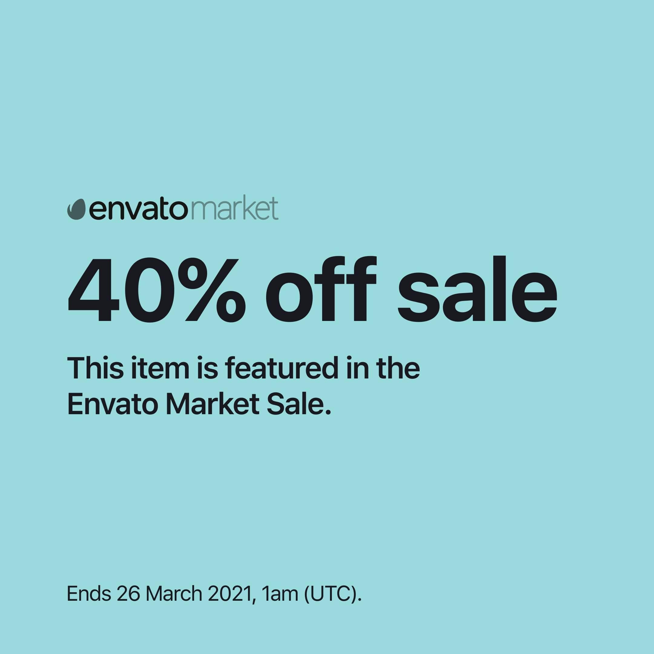 Envato Market – March sale 2021